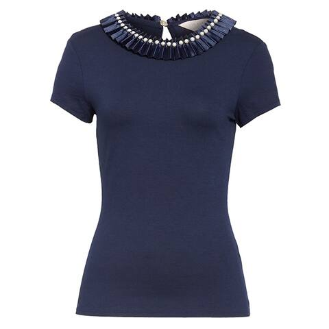 Ted Baker Womens Nikita Blue Neck Fitted Tee
