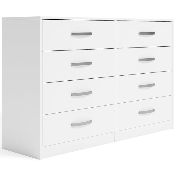 Signature Design by Ashley Finch White Eight Drawer Dresser. Opens flyout.