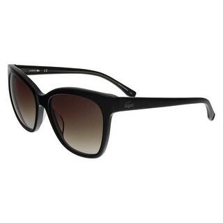 Lacoste L792/S 001 Black Square sunglasses Sunglasses - 56-18-140