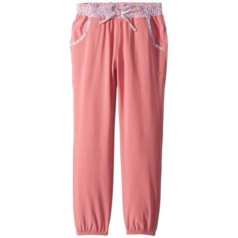 Columbia Pink Girls Size Large L Drawstring-Waist Jogger Pants