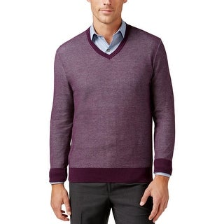 Michael Kors Mens Pullover Sweater Heathered V-Neck