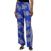 Ny Collection Blue Womens Size Large L Wide-Leg Pants Stretch