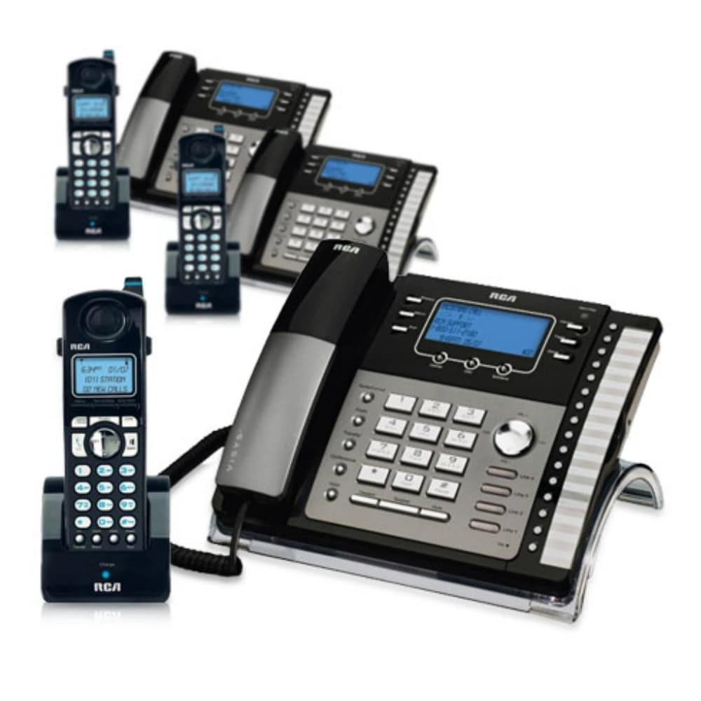 RCA ViSYS 25424RE1 & H5401RE1 3-Pack GE / RCA Cordless / Corded Phone System