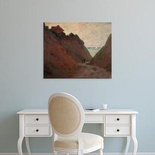 Easy Art Prints Claude Monet's 'The Sunken Road in the Cliff at Varangeville' Premium Canvas Art