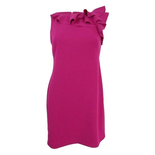 86c244506c5 Shop Lauren by Ralph Lauren Women s Petite Ruffled Crepe Dress ...