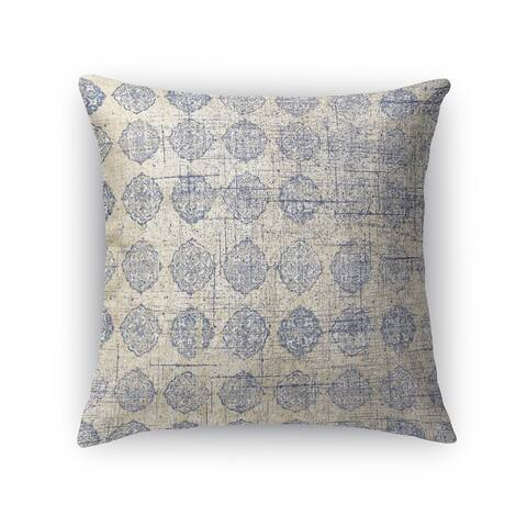 Kavka Designs grey lugo accent pillow with insert