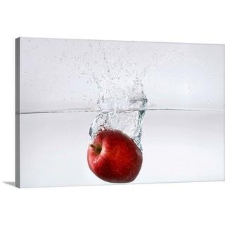 """Apple in water"" Canvas Wall Art"