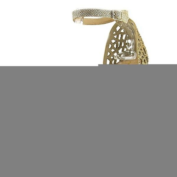 Thalia Sodi Womens Felisa Fabric Peep Toe Special Occasion Ankle Strap Sandals