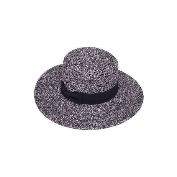 9126e2e4e Womens Striped Straw Wide Brim Sun Hat w/ Band
