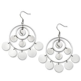 Stainless Steel Polished Circles Dangle Earrings