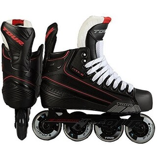 Tour Hockey Mens Code 7 Sr Inline Hockey Skate, Black, 8