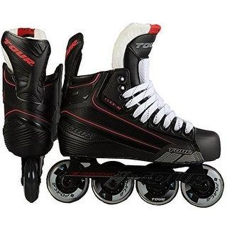 Tour Hockey Mens Code 7 Sr Inline Hockey Skate, Black, 9