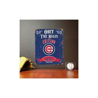 Party animal vscub chicagocubs embossd metal sign