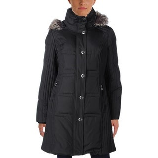 Anne Klein Womens Puffer Coat Winter Down