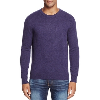 Bloomingdales 2-Ply Cashmere Crewneck Sweater Blueberry Purple Medium M