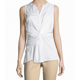 MICHAEL Michael Kors Womens Twist Knot Split Neck Blouse