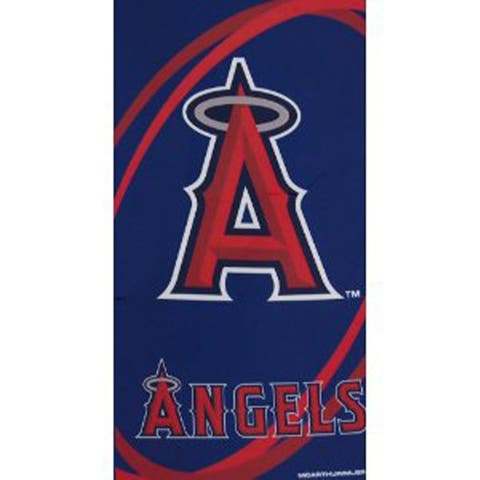 Los Angeles Angels Fiber Reactive Towel - Navy Blue/Red - 30 x 60 inch