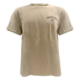Jack Daniels Men's Classic Old No. 7 Short Sleeve T-Shirt - Khaki 33261403JD-28