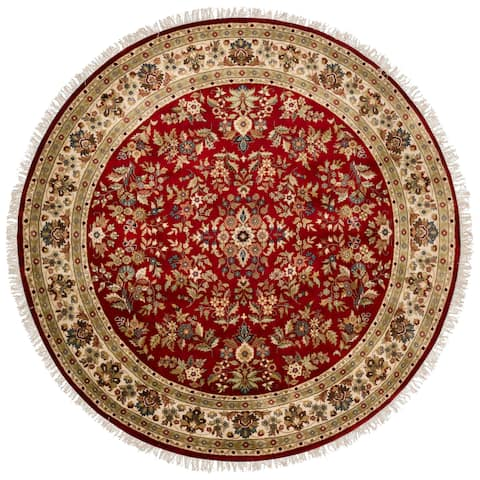 Hand-knotted Cloverdale Wool Area Rug - 8' Round