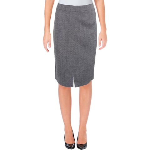 BOSS Hugo Boss Womens Valesana Pencil Skirt Wool Marled