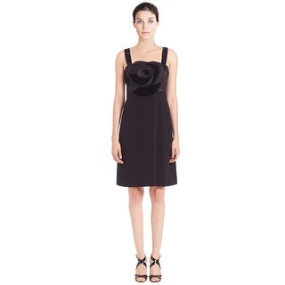 Diane Von Furstenberg Darling Satin Combo Rose Detail Cocktail Dress - 0