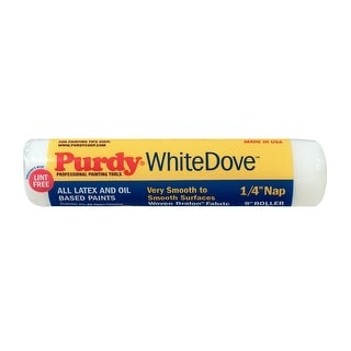 "Purdy 140662091 White Dove Smooth Roller Cover, 9"" x 1/4"""