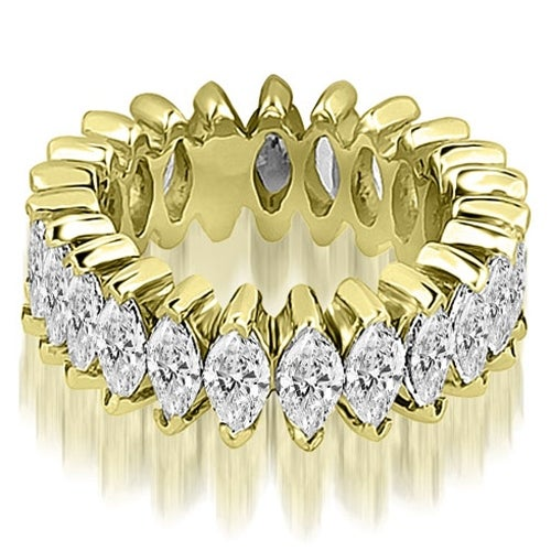 2.88 cttw. 14K Yellow Gold Marquise Diamond Eternity Ring