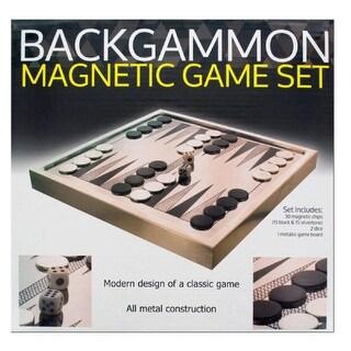 Daily Basic Metallic Finish Backgammon Magnetic Game Set