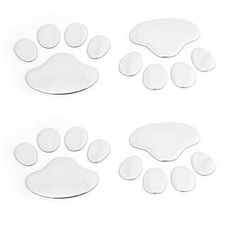 Unique Bargains 4PCS Dog Footprint Shaped Plastic Decorative Badges Sticker for Car Truck