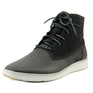 UGG Lamont Men Round Toe Leather Black Chukka Boot