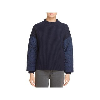 Kenneth Cole Womens Pullover Sweater Quilted Warm