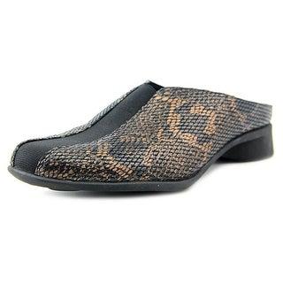 J. Renee Cayla Women Black/Brown Snake Mule Slides
