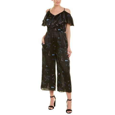 Rachel Zoe Cold-Shoulder Silk Jumpsuit