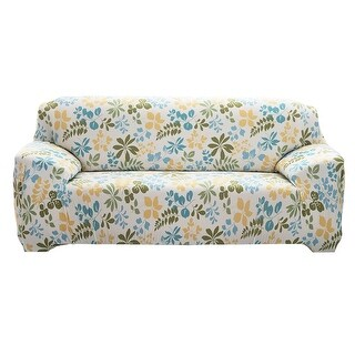 """Unique Bargains Stretch 4 Seats Flower Pattern Sofa Cover Slipcovers Couch Protector Mult-color 92.5"""" - 118"""""""