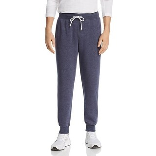 Alternative Apparel Mens Jogger Pants Side-Stripe Gym-Wear - Ecru/Navy - XXL