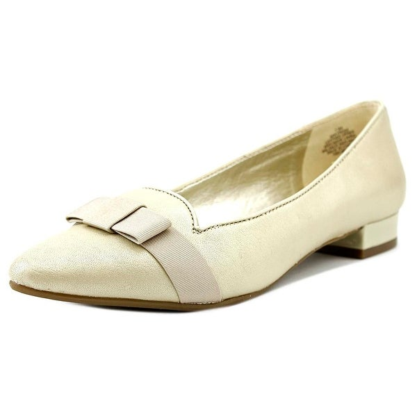 Anne Klein Kyrena Women Round Toe Leather Flats