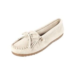 Minnetonka Shoes Womens Kilty Soft Suede Hardsole Fringe Stone