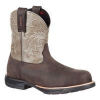 "Rocky Women's 8"" LT Composite Toe WP Western Boot RKW0218 Dark Brown/Slate Full Grain Leather"