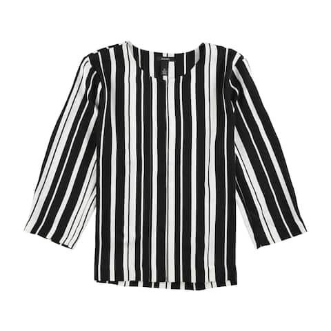 Alfani Womens Striped Blazer Jacket