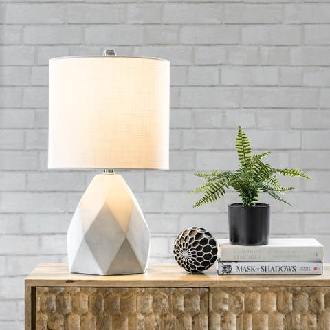 "nuLOOM Ithaca 21"" Cement Table Lamp"