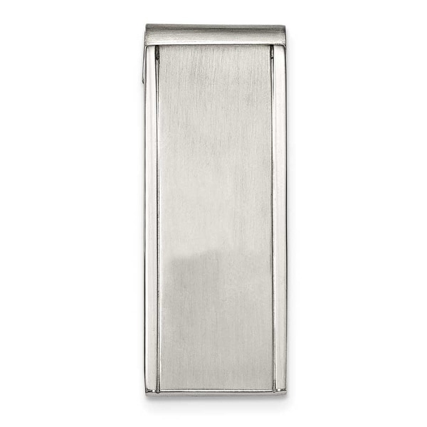 Chisel Brushed and Polished Stainless Steel Money Clip