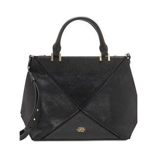 Vince Camuto Womens Satchel Handbag Leather Suede - MEDIUM