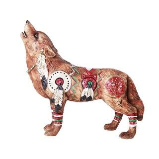The Wolf Spirit Collection Revered War Wolf Spirit Collectible Figurine
