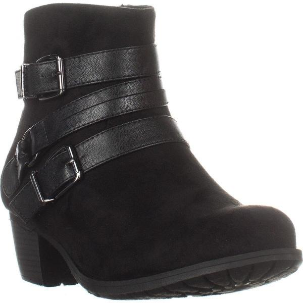 Easy Street Coby Block-Heel Ankle Booties, Black