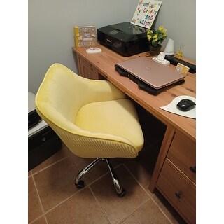 Corvus Braff Contemporary Velvet Fabric Adjustable Ergonomic Home Office Chair