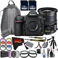 Nikon D850 DSLR Camera (Body Only) 1585 International Model + Nikon PC-E NIKKOR 24mm f/3.5D ED Tilt-Shift Lens Bundle
