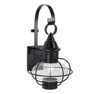 "Norwell Lighting 1612 Vidalia Onion Single Light 21"" Tall Outdoor Wall Sconce with Glass Shade"