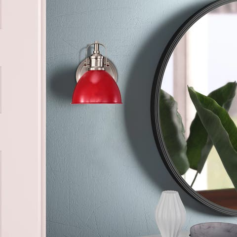 1-Light Vintage Wall Sconce, Red Industrial Fixture Light with Elegant - 8*6*8