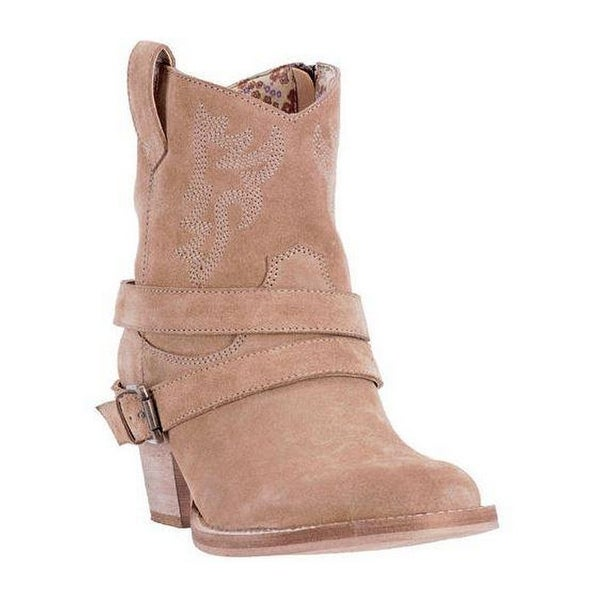 Dingo Western Boots Womens Straps Fashion Composition Light Tan