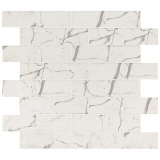"MSI SMOT-GLS-STA36  3"" x 6"" Brick Joint Mosaic Tile - Glossy Glass Visual - Sold by Carton (9.4 SF/Carton) - Celano"